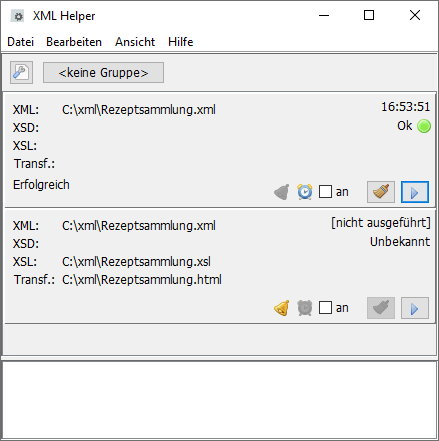 Fenster XML Helper